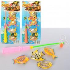 Рыбалка 1458 магнитная, рыбка4шт, 6, 5см, микс цветов