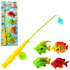 Рыбалка 6508-04 удочка с магнитом, рыбки 4шт