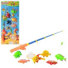 Рыбалка M 0039 U/R 1 удочка с магнитом, 1 сачок, морские обитатели 6 или 8 шт, 2 вида