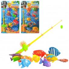 Рыбалка M 2493 удочка с магнитом, 9 рыбок, микс цветов