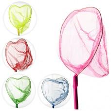 Сачок для бабочек MS 0906 длина93см, длина радиоуправлениички70см сердце23-18см, бамбук, 5 цветов