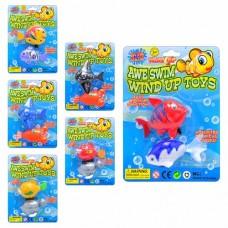 Водоплавающая игрушка M 0981 рыбки, 2 шт, 6 видов, заводная