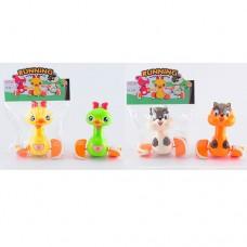 Заводная игрушка 1065-1065-1 животное, 13см, ездит, 2вида по 2цветаке