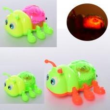 Заводная игрушка 1299 жук, 12см, ездит, свет, 3цвета, бат таблке
