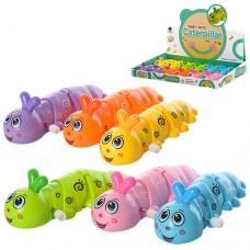 Заводная игрушка 687 гусеница, 13см, 12шт 6цветов