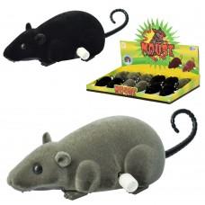 Заводная игрушка R1806A мышка, 12см, шевелит хвостом, 12шт 2цв