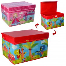 Корзина для игрушек M 5748 38, 5-25, 5-24, 5см, крыша-застежка-липучка, микс вид, в кул