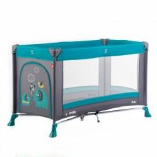 Кроватка-манеж Carrello Solo CRL-11701 Sky Green, серый с бирюзовым