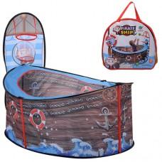 Палатка M 3758 манеж, на 114-804090см, баскетб.кольцо-сетка, на колышках, в сумке