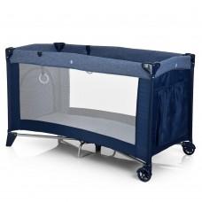 Кроватка-манеж El Camino Safe ME 1016  Blue, синий