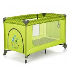 Кроватка-манеж El Camino Safe ME 1016 Green Zigzag, зеленый