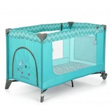 Кроватка-манеж El Camino Safe ME 1016 Mint Zigzag, мятный