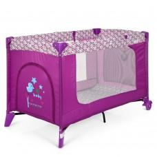 Кроватка-манеж El Camino Safe ME 1016 Purple Flowers, пурпурный