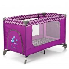 Кроватка-манеж El Camino Safe ME 1016 Purple Zigzag, пурпурный