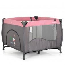 Манеж El Camino Arena ME 1030 Pink Len, серый с розовым