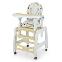 Детский стульчик-трансформер для кормления Bambi M 1563 Animal Beige, бежевый