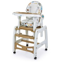 Детский стульчик-трансформер для кормления Bambi M 1563 Animal Brown, коричневый