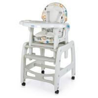 Детский стульчик-трансформер для кормления Bambi M 1563 Animal Gray, серый