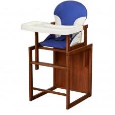 Детский деревянный стульчик-трансформер для кормления Bambi CH-D1 Blue, синий