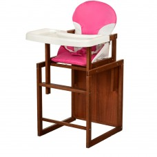 Детский деревянный стульчик-трансформер для кормления Bambi CH-D2 Pink, розовый