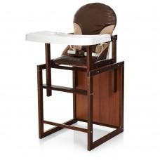 Детский деревянный стульчик-трансформер для кормления Bambi CH-D4 Coffee, коричневый