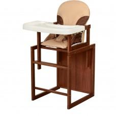 Детский деревянный стульчик-трансформер для кормления Bambi CH-D5 Beige, бежевый