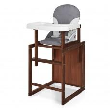 Детский деревянный стульчик-трансформер для кормления Bambi CH-D6, серый