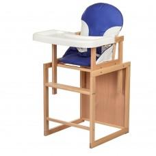 Детский деревянный стульчик-трансформер для кормления Bambi CH-L1 Blue, синий