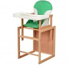 Детский деревянный стульчик-трансформер для кормления Bambi CH-L3 Green, зеленый