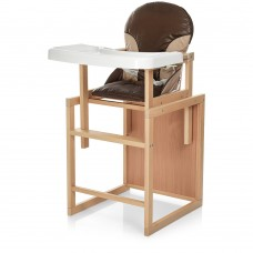 Детский деревянный стульчик-трансформер для кормления Bambi CH-L4 Coffee, коричневый