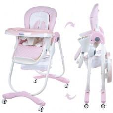 Детский стульчик для кормления El Camino M 3236-3 Dolce, розовый