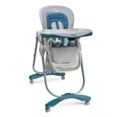 Детский стульчик для кормления El Camino M 3236-7 Dolce, серо-бирюзовый