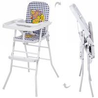 Детский стульчик для кормления Bambi HB 303-4, белый