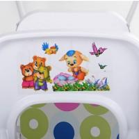 Детский стульчик для кормления Bambi HB 303-8-5, белый