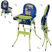 Детский стульчик для кормления Bambi HC100A GREEN, салатово-синий