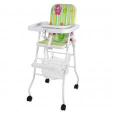 Детский стульчик для кормления Bambi M 0397-1, бело-зеленый