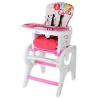 Детский стульчик-трансформер для кормления Bambi M 0816-18, розовый