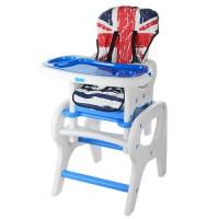 Детский стульчик-трансформер для кормления Bambi M 0816-22, синий
