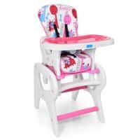 Детский стульчик-трансформер для кормления Bambi M 0816-23, розовый