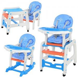 Детский стульчик-трансформер для кормления Bambi M 1563-1-4, голубой