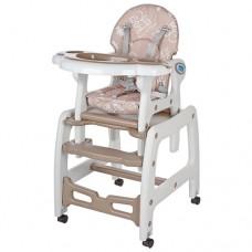Детский стульчик-трансформер для кормления Bambi M 1563-13, бежевый