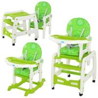Детский стульчик-трансформер для кормления Bambi M 1563-5, зеленый
