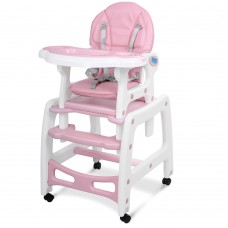 Детский стульчик-трансформер для кормления Bambi M 1563-8-1, розовый