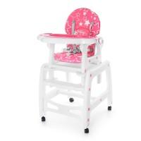 Детский стульчик-трансформер для кормления Bambi M 1563-8-3, розовый