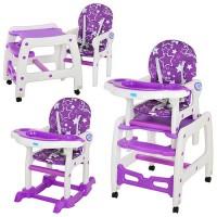Детский стульчик-трансформер для кормления Bambi M 1563-9, фиолетовый