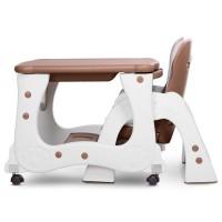 Детский стульчик-трансформер для кормления Bambi M 2429-13 PRISMA, коричнево-белый