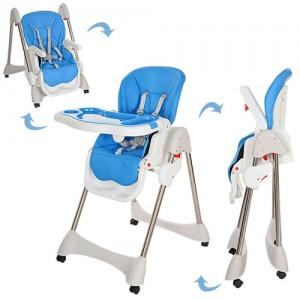 Детский стульчик для кормления Bambi M 3216-2-4, синий