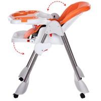 Детский стульчик для кормления Bambi M 3216-2-7, оранжевый