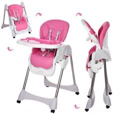 Детский стульчик для кормления Bambi M 3216-2-8, розовый