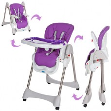 Детский стульчик для кормления Bambi M 3216-2-9, фиолетовый